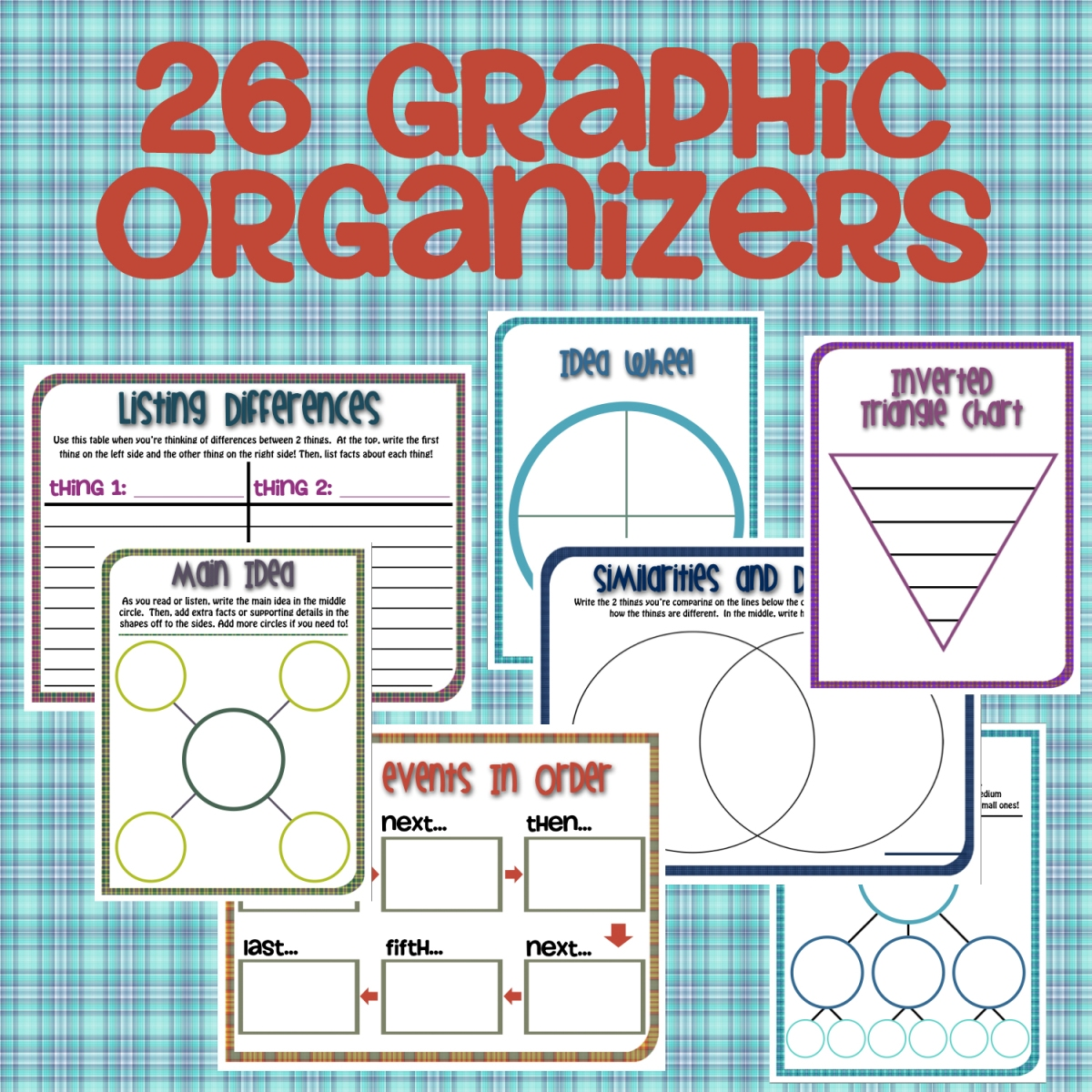 New Product :: Graphic Organizer Pack