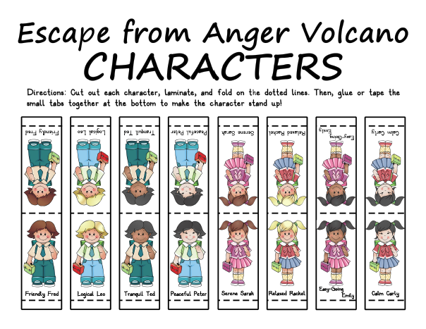 Escape from Anger Volcano Characters