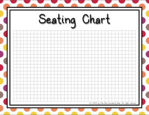Seating Chart Warm
