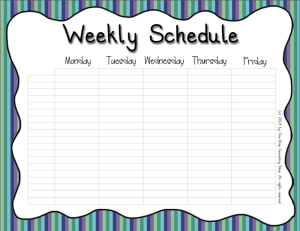 Weekly Schedule Cool