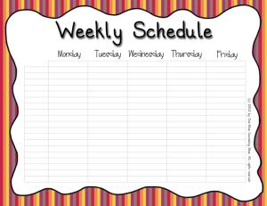 Weekly Schedule Warm
