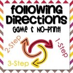 Following Directions Game and No-Print
