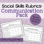 Communication Social Skills Rubrics